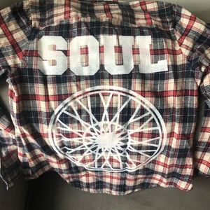 NWOT Soulcycle Varsity Flannel Sz Small